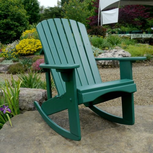 Cedar Painted Rocker in Hunter Green
