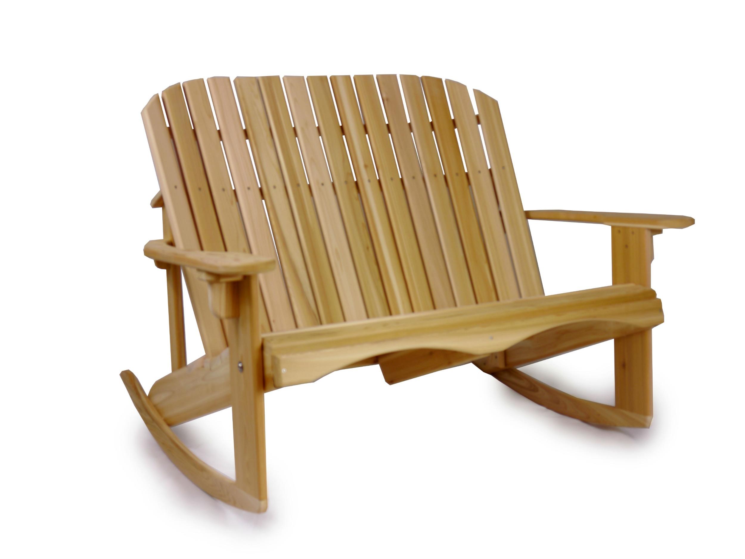 Adirondack Love Seat Rocker Ozark Mountain Furniture