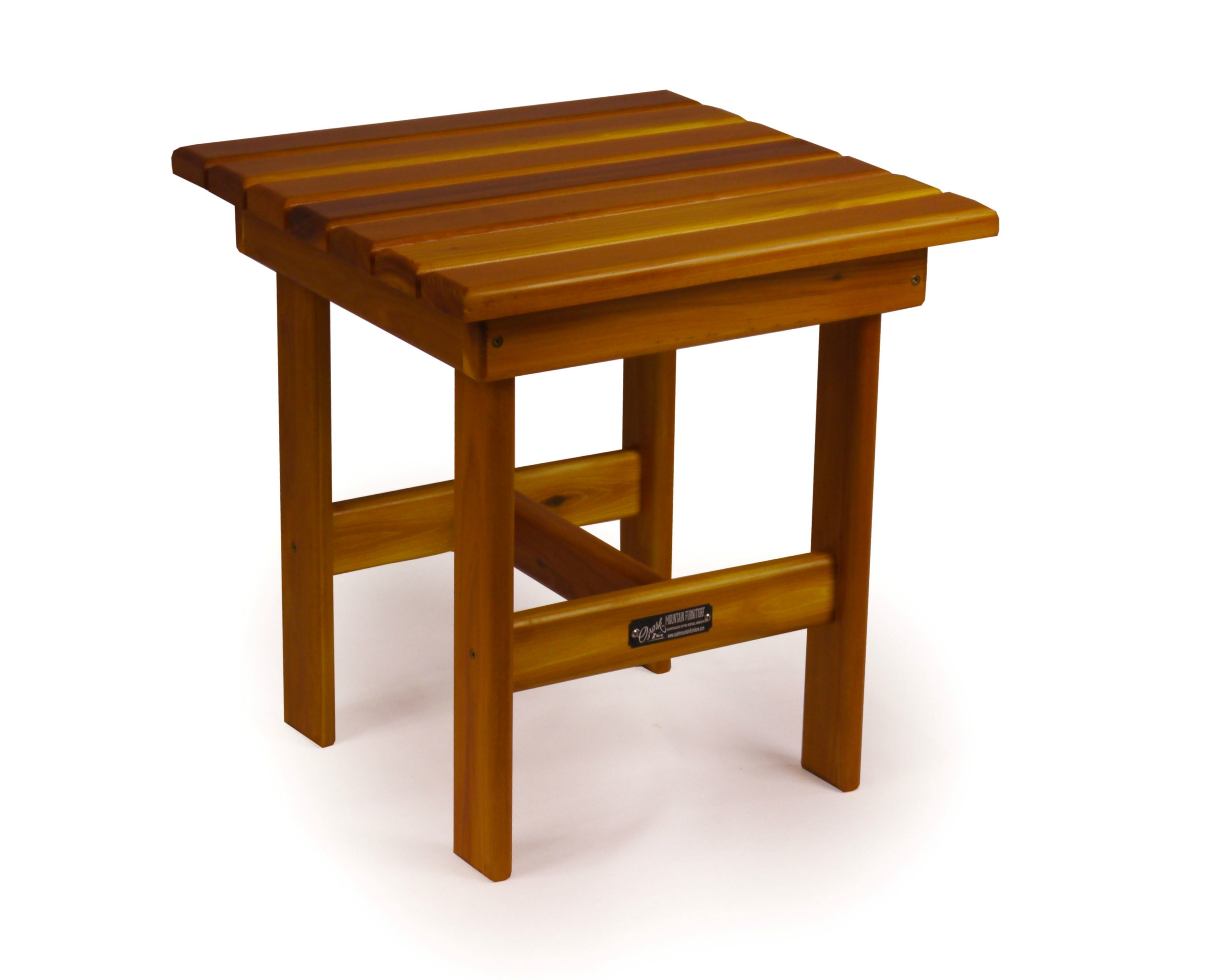 Square side table ozark mountain furniture for Square side table