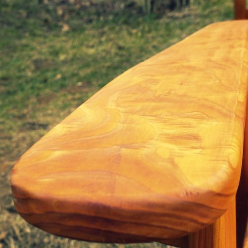 Beautiful exotic cedar burl on this rocker arm